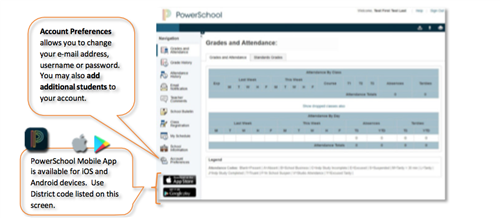 Powerschool login screenshot information